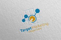 Target Marketing Financial Logo 48 by denayunebgt on @creativemarket Marketing Logo, Financial Logo, Logos, Logo