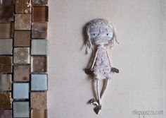 Mummy Doll Brooch Art Doll mixed media collage by miopupazzo