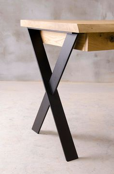 Welded Furniture, Steel Furniture, Furniture Legs, Furniture Design, Modern Wood Furniture, Chair Design, Industrial Style Desk, Industrial Furniture, Industrial Drawers
