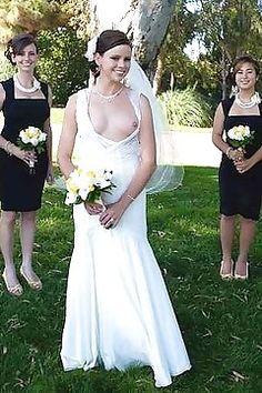 slips nude nipple Wedding