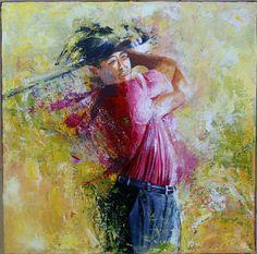 Golf 40 x 40 cm ©2010 par Bivan Artist