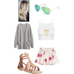 Untitled #15 by fabfive1999 on Polyvore featuring polyvore, fashion, style, H&M, Topshop, Wet Seal, Gorjana and Ray-Ban