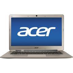 "Acer - Aspire Ultrabook 13.3"" Laptop - 4GB Memory - 500GB Hard Drive + 20GB SSD - Champagne"