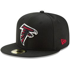 5a0f1f27214 Men s Atlanta Falcons New Era Black Omaha 59FIFTY Fitted Hat