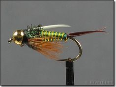 Hot Wire Prince Nymph with a Tungsten Bead Head is one of the ultimate heavy searching nymph patterns - it catches fish. This bright green-yellow trout fly is a great Czech nymphing anchor fly and works in almost every fly fishing river around the world. Fly Fishing Tips, Trout Fishing, Fishing Lures, Fishing Basics, Fly Fishing Nymphs, Fishing Videos, Fishing Knots, Fishing Reels, Fishing Tackle