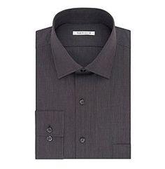 Van Heusen® Men's Big & Tall Striped Spread Collar Button Down Dress Shirt