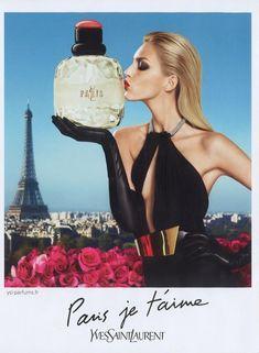 Anja Rubik for Yves Saint Laurent Paris Je t'aime Fragrance Campaign Yves Saint Laurent Parisienne, Saint Laurent Perfume, St Laurent, Anja Rubik, Ysl Parfum, Fragrance Parfum, Anuncio Perfume, Black And White, Feminism