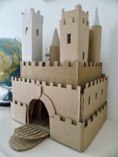 DIY cardbox castle- Ritterburg aus Pappe
