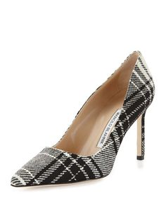 Perfect plaid from Manolo