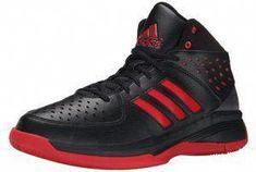 adidas Performance Mens Court Fury Basketball Shoe Black Black Red 10 M US 54c923f07