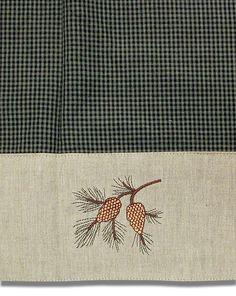 Pine Cone Shower Curtain, pinecone lodge fabric shower curtain bath