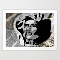 """Grand Dame Grace"" by carographic - Carolyn Mielke Art Print by Carolyn Mielke   Society6"