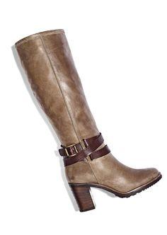 CUTE! tall boot w/ buckle detail #Marshalls #falltrends