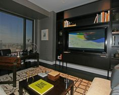 charming modern home office design use darkwood desk and black leather swivel chair at manhattan nyc charming office design sydney