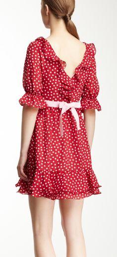Ruffled polka dot dress