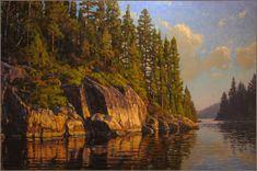 Northern Minnesota | Northwestern Ontario | Boundary Waters Canoe Area |Lake painting |Original oil