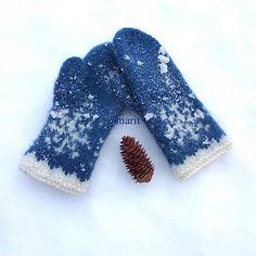 S N Ø votter - mittens - Hello Mittens Pattern, Knit Mittens, Drops Design, Ravelry, Knit Crochet, Gloves, Snow, Hats, Knitting Ideas