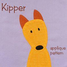 Kipper - easy puppy applique pattern