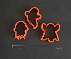 Halloween Ghosts  Set of 3 by CreativeCookieCutter on Etsy, $11.00