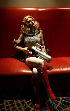 Barbarella made by Lady.Graves with mini missle gun. Dragon*Con 2013
