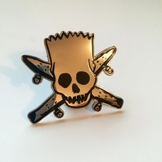 Hey, I found this really awesome Etsy listing at https://www.etsy.com/uk/listing/262645493/bart-simpson-x-fourstar-pin-badge