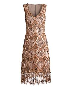 Joanna Hope Embellished Mesh Dress