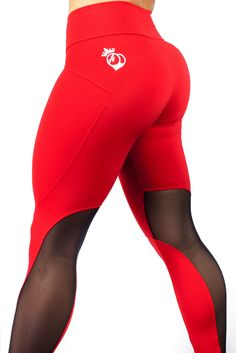 "The Newest addition to the BootyQueen Legging Family... The ""Red Hots"" legging! This legging marries strength with glamour . Taking our signature high waist and super flattering fit; This legging will"