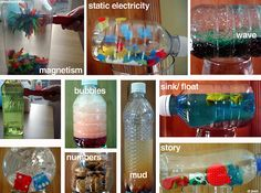 science experiments with water bottles