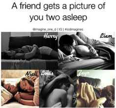 One Direction Preference - pic of you two sleeping