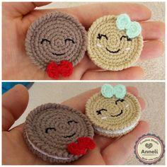 Crochet Cookies / galletas Amigurumi / juego comida / finja el juego / comida de ganchillo / Crochet dulces / vivero Decor / Decoración para el hogar / decoración cocina