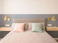 Simple Bedroom Design, Bedroom Wall Designs, Bedroom Styles, Wainscoting Bedroom, Master Bedroom Interior, Home Decor Bedroom, Floating Shelves Bedroom, Pallet Furniture Designs, Guest Room Decor