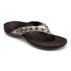 06b6b9d8c57c Vionic Women s Floriana Toe Post Sandal Grey Snake Size 6 Snake Print