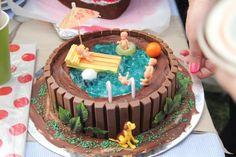 Jelly cake! Sweet I wanna do a cake like this.