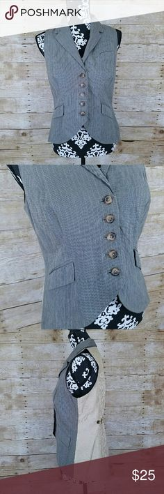"""CAbi #175 Liverpool Waistcoat Riding Vest Women's CAbi #175 Liverpool Waistcoat Riding Vest  Brown with Gold Damask backing  5 center buttons  Size small  Worn once or twice EUC   Measurements laying flat:  Underarm to underarm: 17""""  Waist: 15.5""""  Length: 24"""" CAbi Jackets & Coats Vests"""
