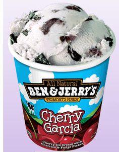 Cherry Garcia: Cherry ice cream with cherries and fudge flakes.