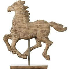 Running Horse Statue On Stand