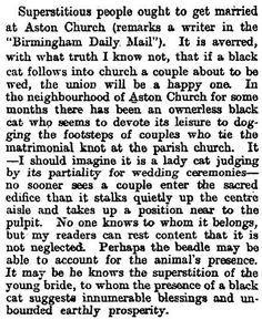Proof--if further proof be needed--that black cats are lucky. (1898) #FolkloreThursday