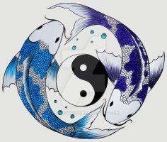 yin-yang koi fish by KatieConfusion