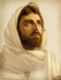 Jesus with tears in His eye