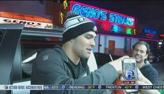 Mark Sanchez Eats at Pat's and Geno's After Win