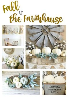 Fall and Farmhouse goes hand in hand. If you love farmhouse style and you need decorating inspiration, this post is for you! Neutral, simple, farmhouse!