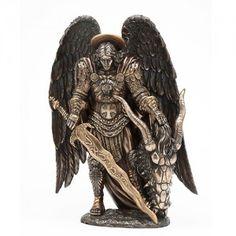 Archangel St Michael Bronze Statue by Derek W Frost