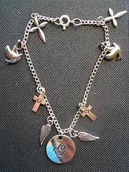 Silver Hope Charm Bracelet