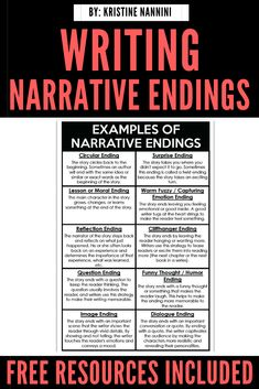 Writing Narrative Endings - Young Teacher Love Writing Lessons, Teaching Writing, Math Lessons, Teaching Ideas, Special Education Teacher, Teacher Blogs, Teacher Hacks, 5th Grade Classroom, Middle School Classroom