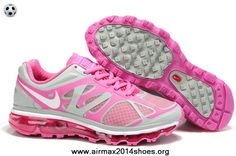 Nike Air Max 2012 487980-035 Womens Grey Pink White Sale Now