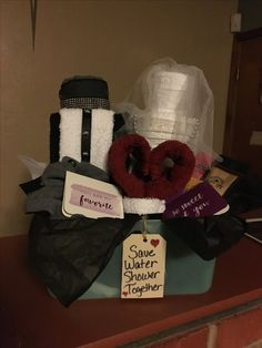 I made my own bride & groom towels with just a few crafts I had at home.