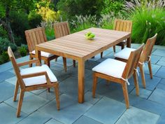 Kingsley Bate Mendocino 6 Seat Dining Set