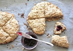 Scottish Oat Scones (cut the recipe in half & make just one scone wheel unless you have a bunch of hungry people, the two of us could only finish one & these get really hard once they completely cool down -not so good then!)