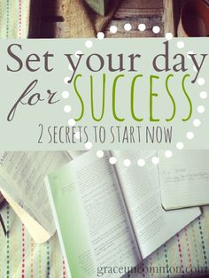 Do you realize that when you start your day focused on you it never goes well? We're learning TWO simple secrets to starting our day well. Every day.