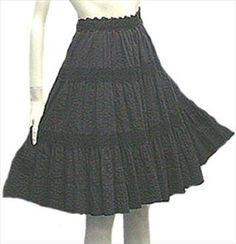 50s Cotton Mexican Skirt